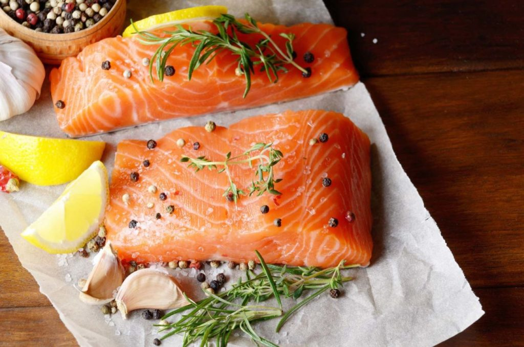 Salmon contains all nutrients for breastfeeding moms